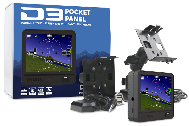 Dynon Pocket Panels are true artificial horizon instruments based on the same technology that drives Dynon's Electronic Flight Instrument Systems (EFIS).