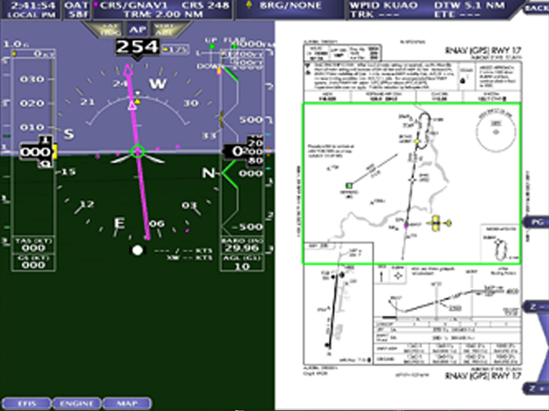 Flight Planning AF-5000 series display feature