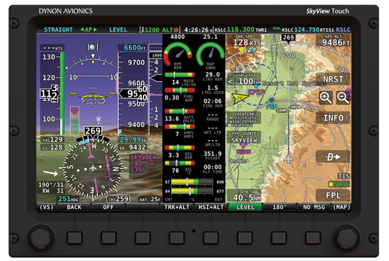 Dynon's SkyView Touch glass panel avionics
