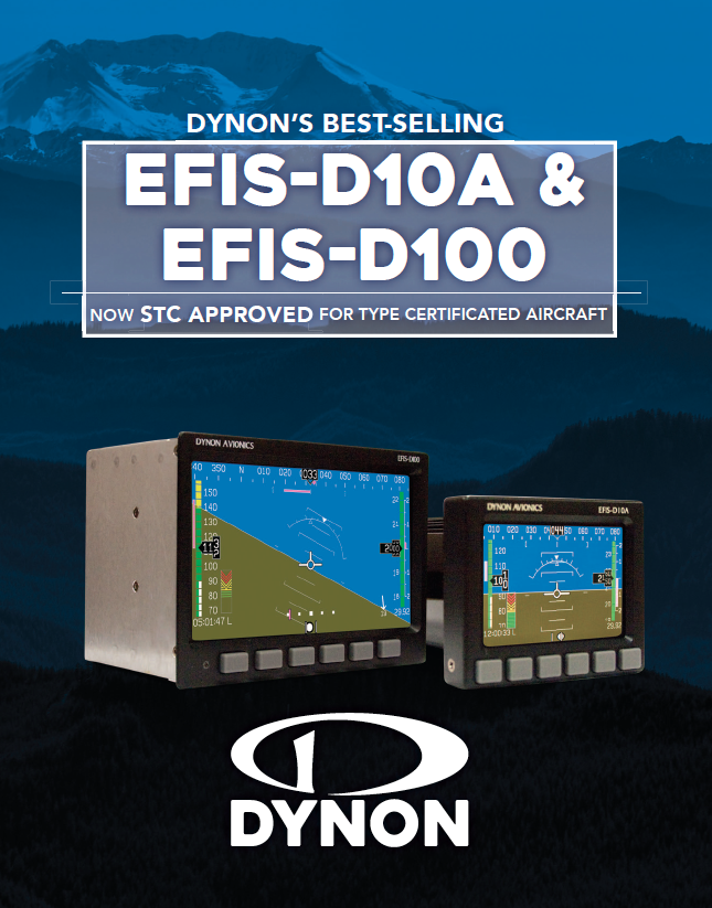 View or Download The EFIS-D10A and EFIS-D100 Product Brochure